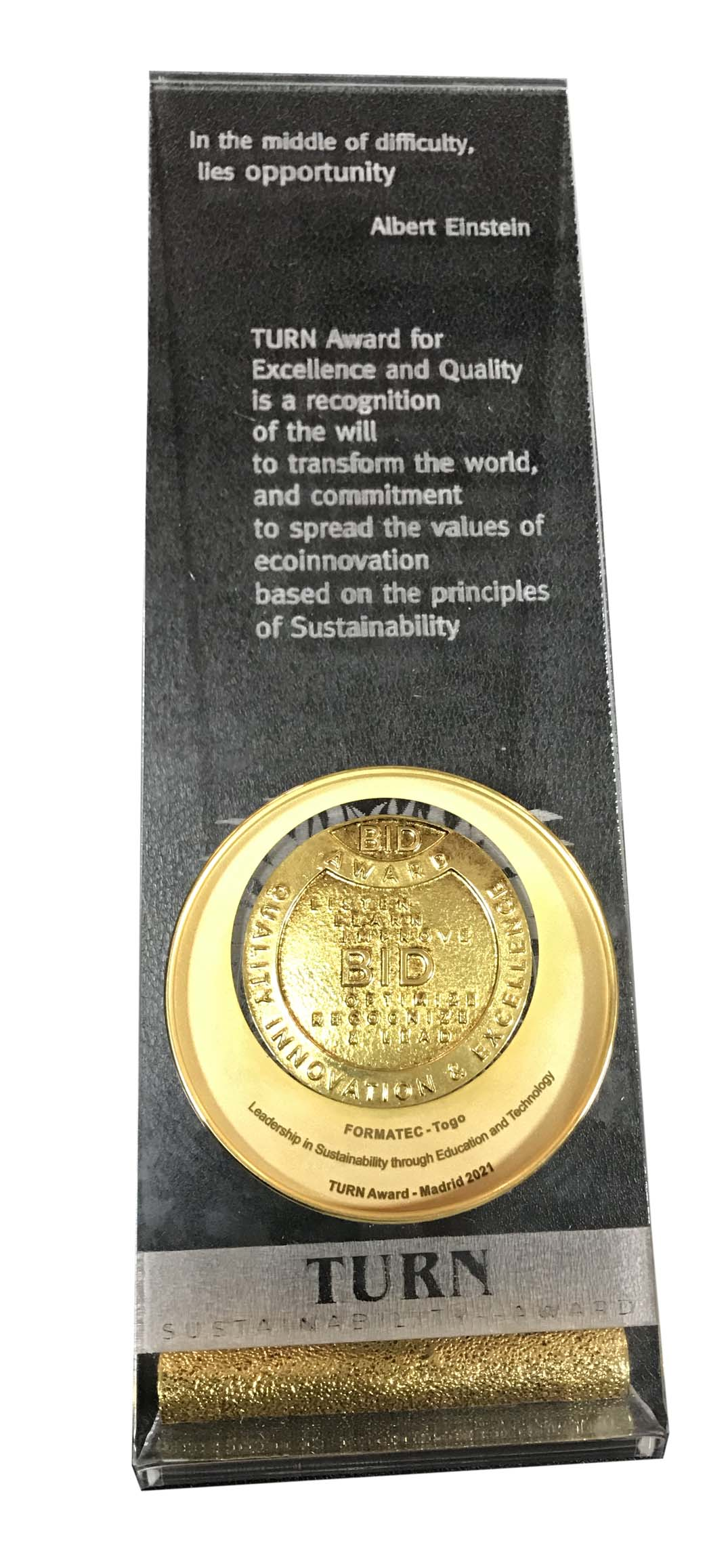 International Turn Award for Sustainability.